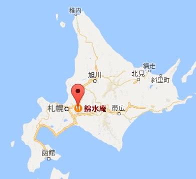 地図:錦水庵 (きんすいあん)