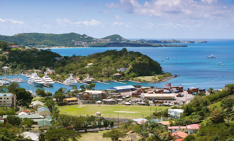 St George's inner harbour and bay, Grenada.