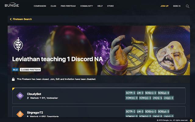 Destiny Report