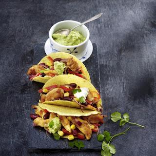 Chicken Tacos with Guacamole.