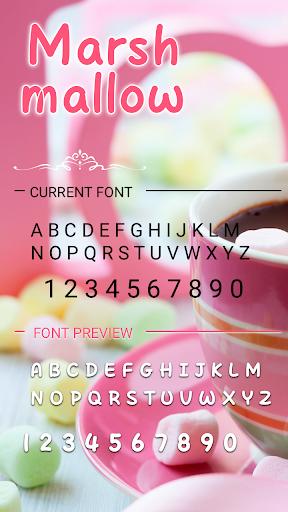 Marshmallow Font for FlipFont , Cool Fonts Text screenshots 3