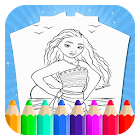 Coloring book for cartoon icon