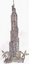 Photo: BauFachForum Ethik:  Dubai heute nach 20 Jahren!!!! Der Burij Dubai oder Burij Kalifa. Nachdem Dubai die Baukosten nicht mehr tragen konnte, musste der Nachbarstaat mit den Baukosten eintreten. Heute verbraucht dieses höchste Gebäude der Welt pro Tag soviel Energie wie eine Kleinstadt. Gebaut werden konnte dieses Gebäude nur aus den Erkenntnissen der Wüsten-Lilie. Eine Art Sellerie-Staude, die allen Wüstenstürmen trotzt. Die Expressaufzüge werden mit soviel Energie bestückt dass sie mit 40 km/h in den Himmel schießen. Ist jetzt der Mensch das Wunder, oder die Natur?  Mehr über Ethik: Macht es Sinn dem Staat treu zu sein? http://baufachforum.de/index.php?rub_id=1&det_id=61_3