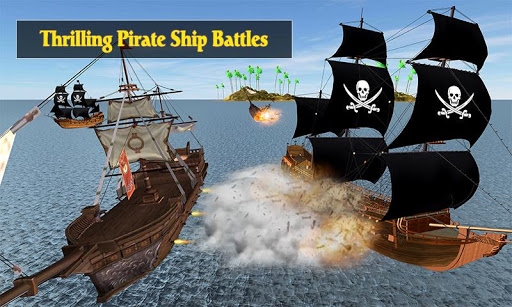 Caribbean Sea Outlaw Pirate Ship Battle 3D android2mod screenshots 3