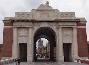 Photo: View of Ypres through the Menin Gate