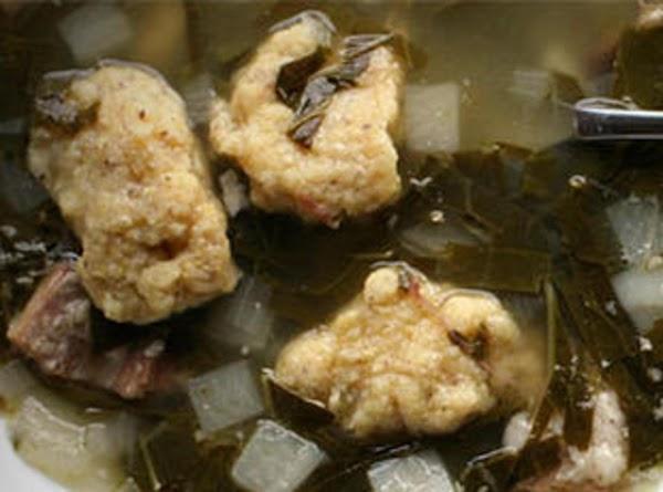 Turnip Greens With Corn Meal Dumplings Recipe