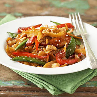 Asian-Style Chicken and Pasta.