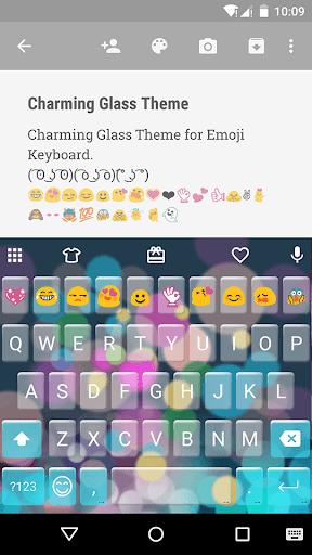 Charming Glass Emoji Keyboard