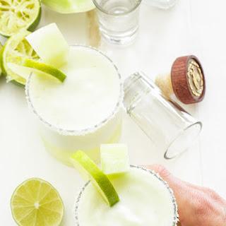 Frozen Honeydew Margaritas.