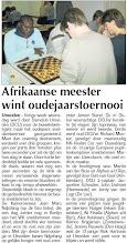 Photo: Afrikaanse meester wint oudejaarstoernooi 7 januari 2010