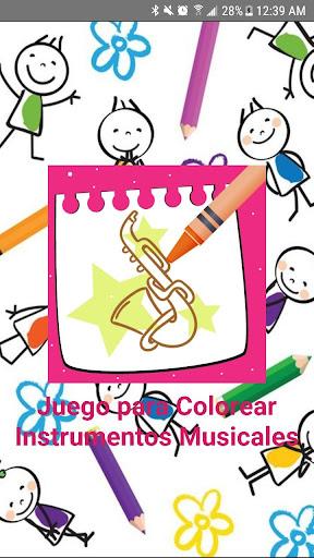 Juego para Colorear Instrumentos Musicales 5.0 screenshots 1