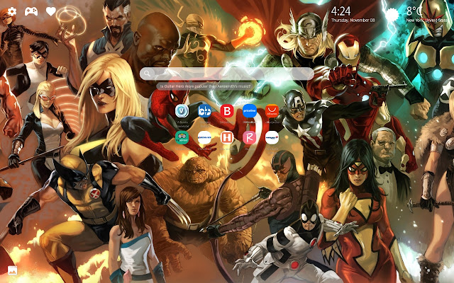 Marvel Heroes Wallpapers HD New Tab
