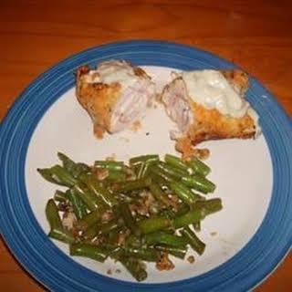 Chicken Cordon Bleu with Mornay Sauce.