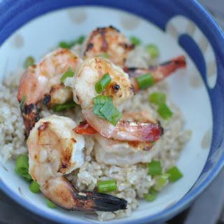 Grilled Miso Glazed Shrimp