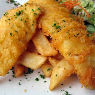 Crunchy Beer Battered Fish & Chips.