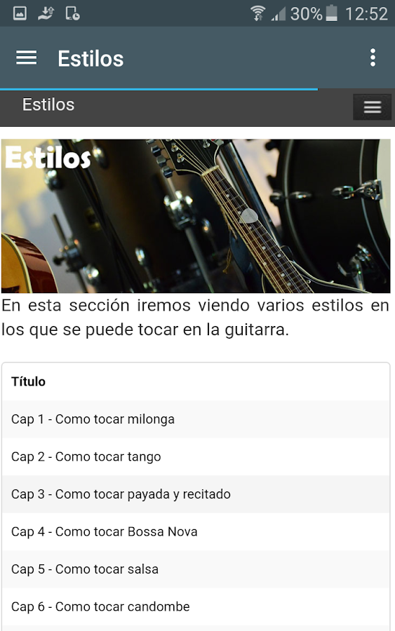 Curso de Guitarra Gratis- screenshot
