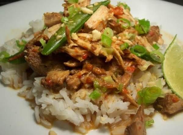 Easy Crockpot Thai Pork