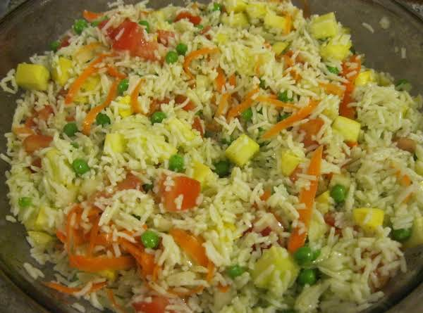 Basmati Rice With Summer Vegetable Salad Recipe
