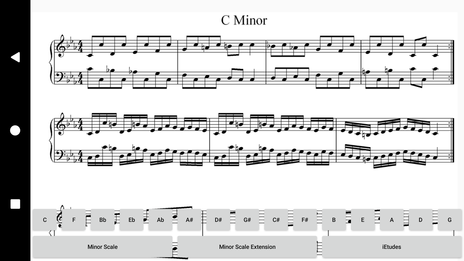 Piano Minor Scales- screenshot