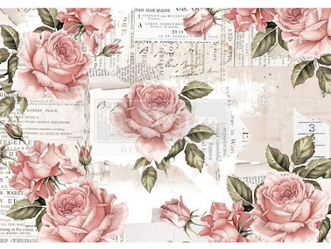 Prima Redesign Rice Paper 11.5X16.25 - Floral Sweetness
