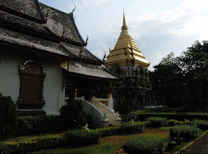 Photo: Wat Chiang Man #thaituesday Curated by +Peak Ness and #architexturetuesday Curated by +Ranjan Saraswati :- Wat Chiang Man was the very first temple built in the ancient city of Chiang Mai in the north of Thailand. It's such a tranquil and peaceful temple. The golden stupa /chedi that you see in the background has large stone elephants as part of the base.  Photography by Justin Hill ©