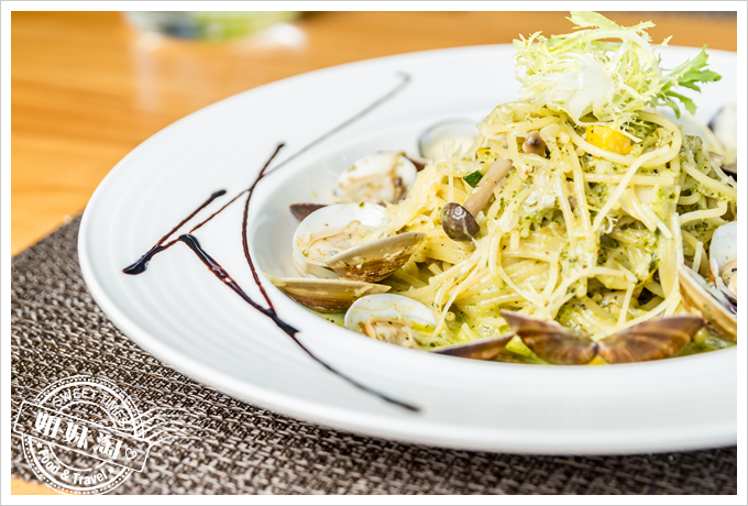 菲.Ra Ra義式餐酒館西西里亞青醬蛤蜊麵2