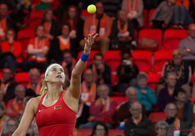 Aryna Sabalenka plaatste zich voor de finale in Qatar
