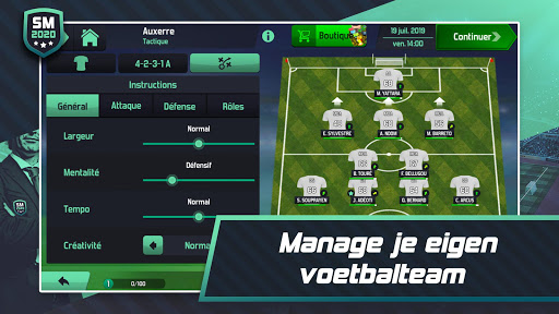 Soccer Manager 2020 - Jeu de Gestion de Football  captures d'écran 2