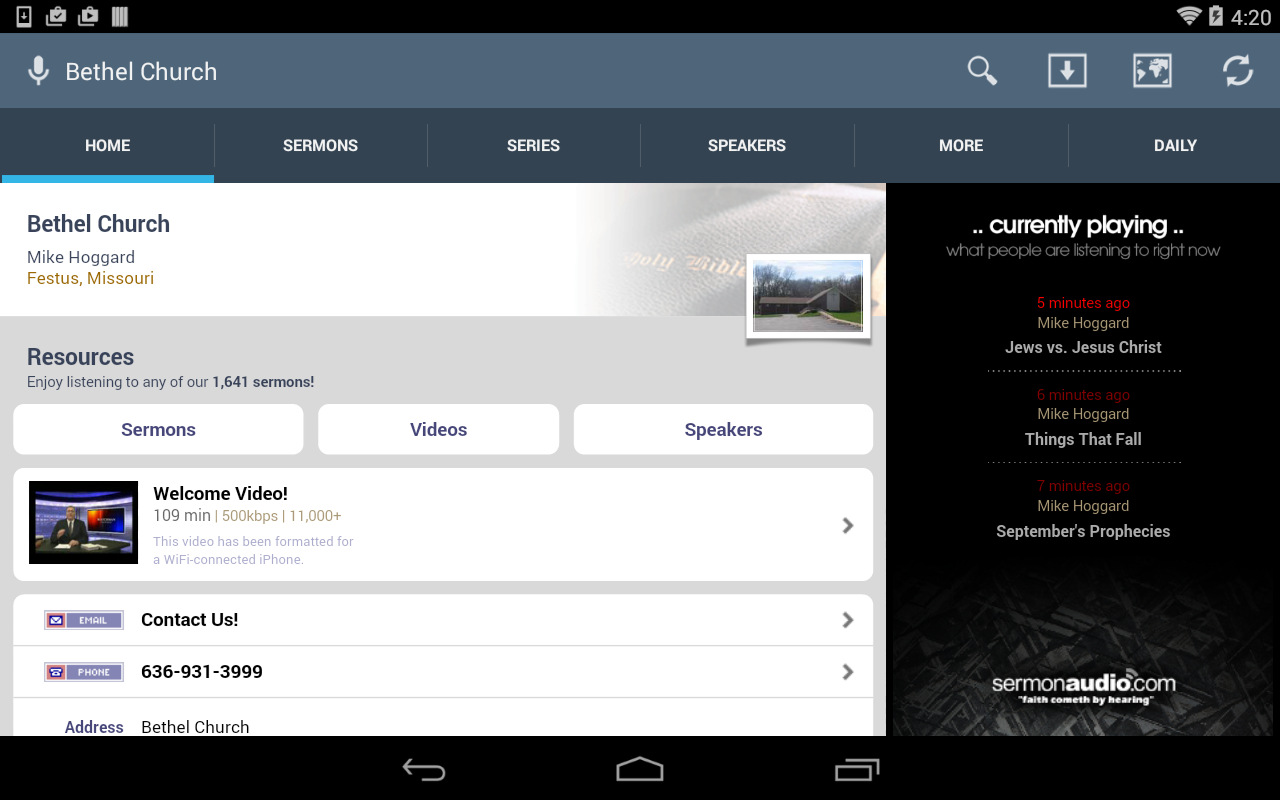Bethel Church- screenshot
