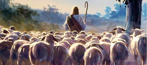 Jesus the Good Shepherd leads his sheep in John 10