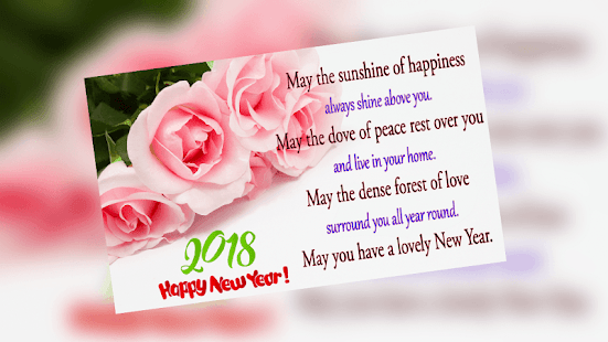 New year greetings 2018 apps on google play screenshot image m4hsunfo Image collections