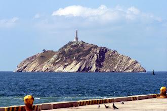 Photo: Faro de Santa Marta  from shore