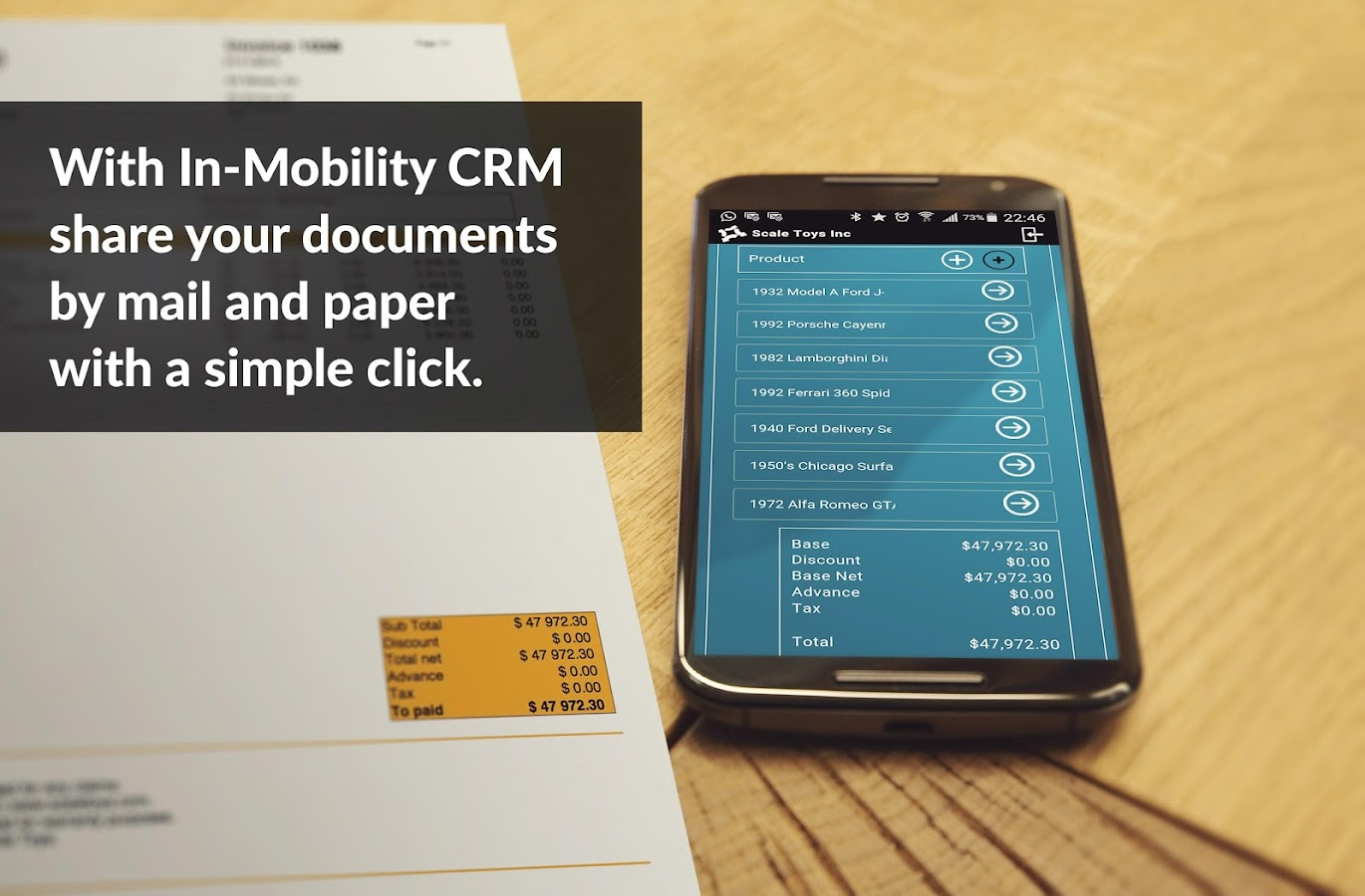 In-Mobility CRM + Invoice- screenshot
