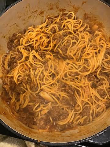 Amanda's One Pot Spaghetti