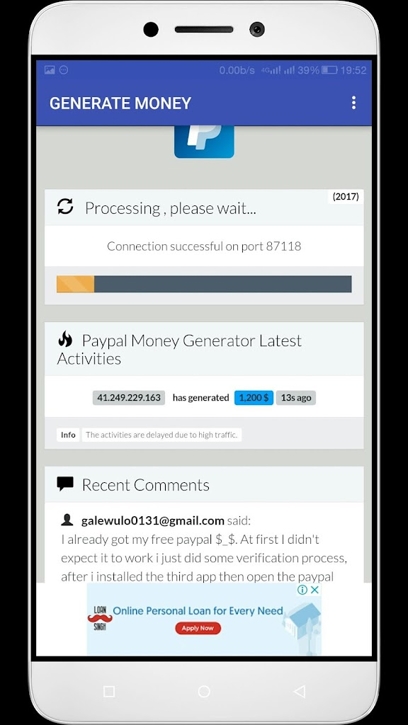 Paypal Generator Money 1 0 Apk Download Com Pdkeshrwani Paypal Money Generator Apk Free