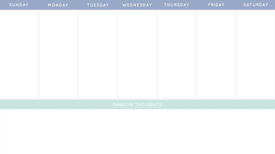 Austere Weekly - Calendar Template