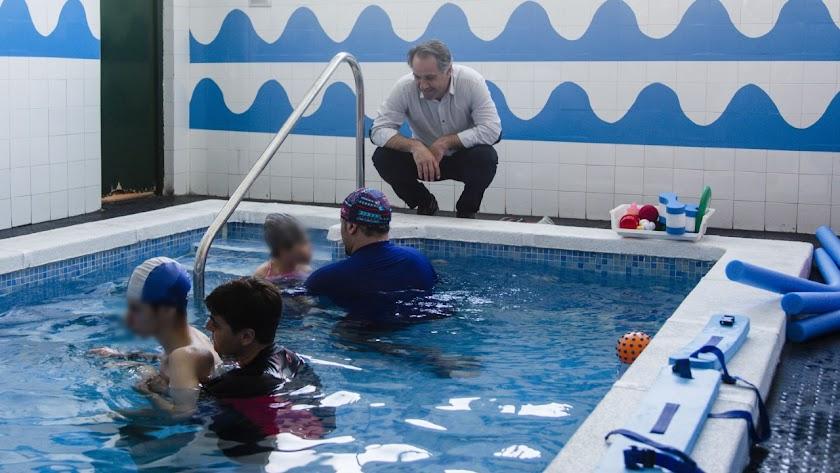 Visita de Juanjo Segura al colegio Princesa Sofía.