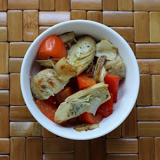 Artichoke Heart and Red Pepper Salad.