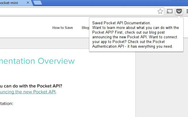 Save to Pocket (mini)