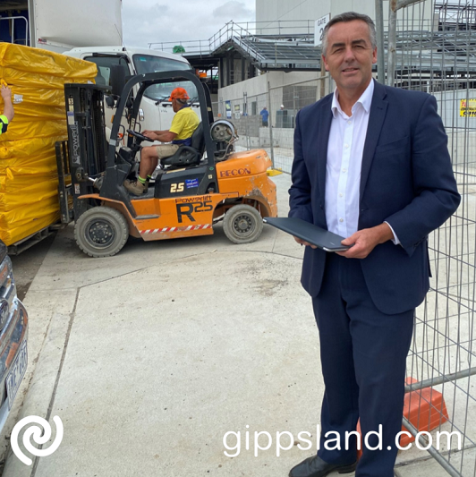 Federal Member for Gippsland Darren Chester said works to fit out the interior shell of the Gippsland Performing Arts Centre were underway