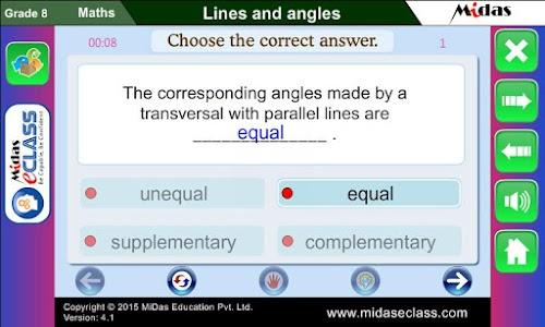 MiDas eCLASS Maths 8 Demo screenshot 5