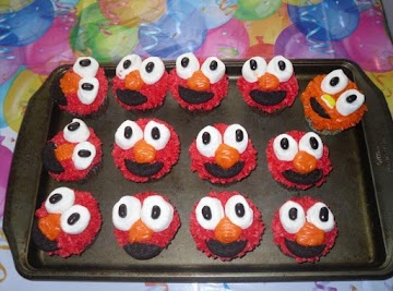 Elmo Cupcakes Recipe