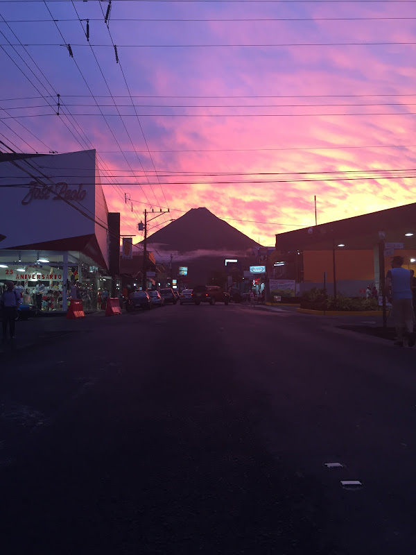 Arenal sunset
