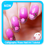 Calligraphy Rose Nail Art Tutorial APK icon