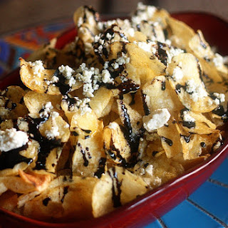 Kettle Chips With Blue Cheese.