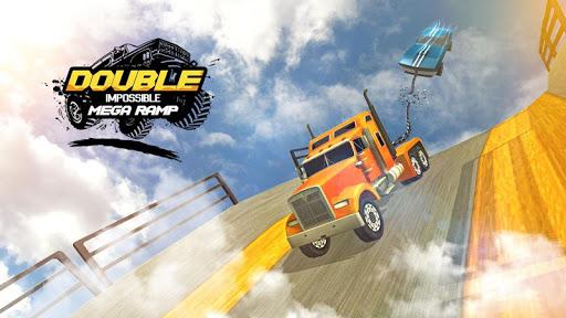 Double Impossible Mega Ramp 3D - Car Jump & Drift apktreat screenshots 2