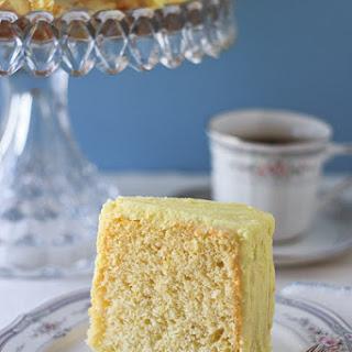 Lemon Chiffon Cake with Lemon Butter Icing.