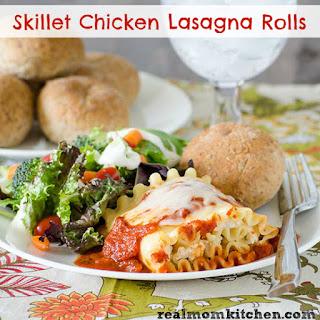 Skillet Chicken Lasagna Rolls