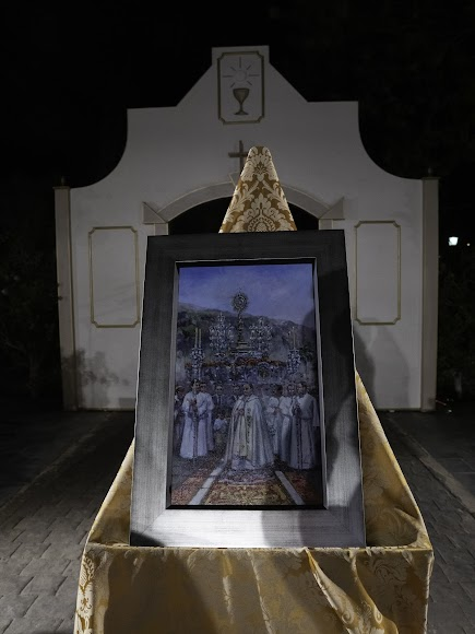 El cuadro que se le regaló a don Ramón Garrido. Foto de Andy Arche.