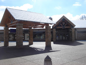 Photo: front of the Visitor's Center
